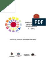 I Encuentro de Genealogía de Gran Canaria 2014