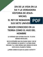 EL  ORIGEN DE LA VIDA EN LA TIERRA  ANTES DE LA PRIMERA Y SEGUNDA PARTE DE LA VIDA DE JESUS.pdf