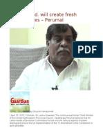 19th Amend. Will Create Fresh Opportunities – Perumal