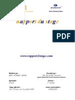 zurich assurance rapport
