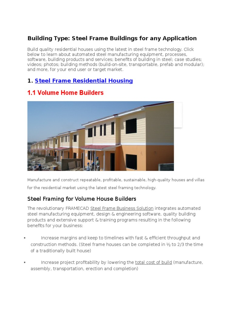 type of housing.docx | Building Insulation | Drywall