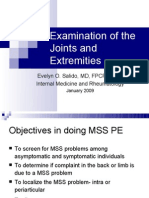 Examination of the Joints and Extremities