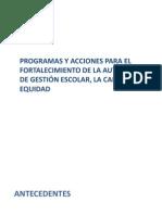 Programas y Acciones -Sispee