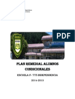 Plan Remedial Alumnos Condicionales