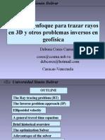 Tecnicas de optimización para trazar rayos y resolver problemas inversos