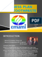Business Plan-emami 2 Way Toothpaste