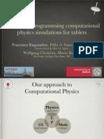 Facilitating Programming Computational Physics Simulations for Tables