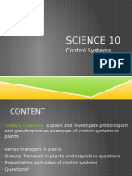 science 10 - unit c - control systems