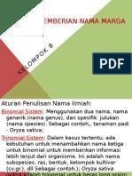 Tata Cara Pemberian Nama Marga TUGAS ST 2014 KLMPK 8