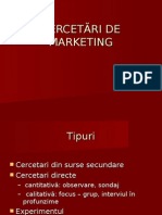 CERCETĂRI DE MARKETING