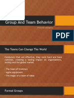 Group and Team Behavior