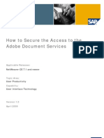 How to Secure the Access to the Adobe Document Services