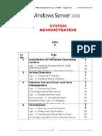 System Admin Manual