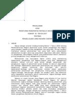 PP 2007 39 Pengelolaan Uang Negara Daerah Penj