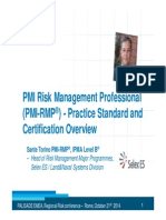 PMI RMP RiskManagementStandardAndCertificationOverview