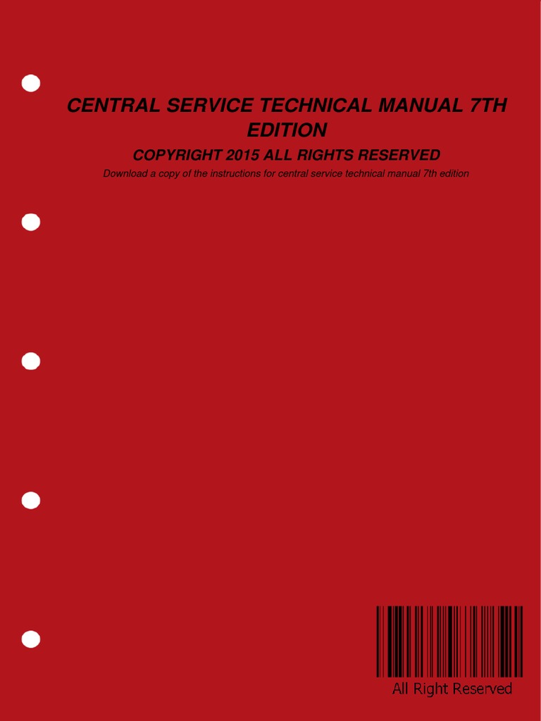 Central Service Technical Manual 7th Edition | E Books | Portable Document  Format