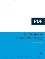 (Bloomsbury Studies in Philosophy) Delbert Reed-Origins of Analytic Philosophy_ Kant and Frege-Bloomsbury Academic (2008)