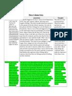 final 3 column notes