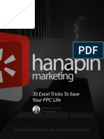 30 Excel Tricks to Save Your PPC Life - Hanapin Marketing