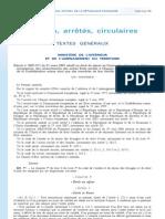 Décret Droit au séjour citoyens UE et familles 2007-371