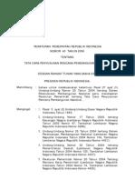 Pp 2006 40 Tata Cara Penyusunan Rencana Pembangunan