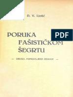 Dimitrije Ljotić - Poruka Fašističkom Šegrtu