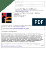 The Journal of Experimental Education Volume 54 Issue 2 1986 [Doi 10.1080%2F00220973.1986.10806404] Paul, Steven M. -- The Advanced Raven's Progressive Matrices