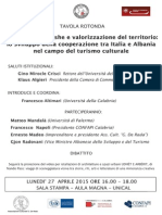Tavola-rotonda UNICAL Con Il v.ministro Albanese Radovani Sulla Cooperazione Italo-Albanese
