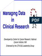 Managing Data in Clinical Research