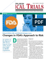 ACT Oct 08_Changes in FDA's Approach to Risk