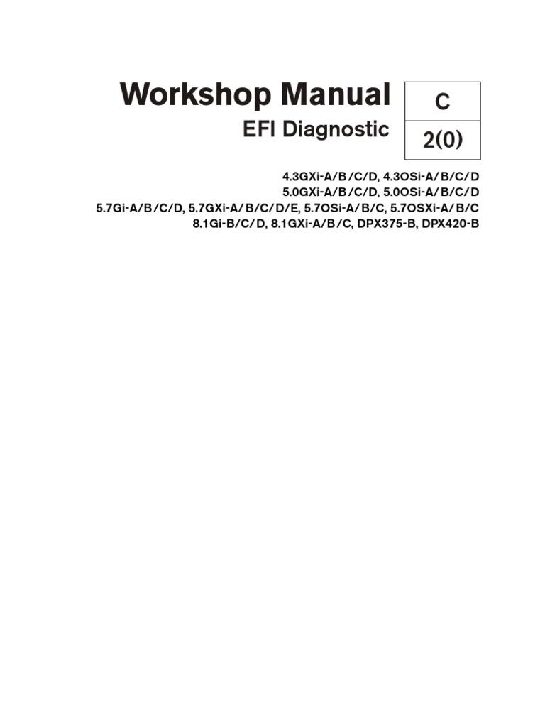 volvo penta workshop manual efi diagnostic electrical connector rh scribd com Volvo Penta 5.0 Gxi Volvo Penta 5.0 Gxi
