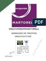 Recuperem Martorell Propuesta Organizativa