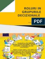 Roluri in Grupurile Decizionale