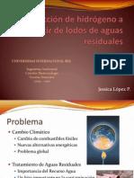 Análisis bibliográfico de la producción de hidrógeno a partir de aguas residuales (presentación)