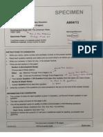Paper 1 Specimen - My Notes