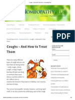Coughs - And How to Treat Them