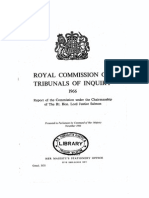 Royal Commission on Tribunals of Inquiry (1966) (Justice Salmon)