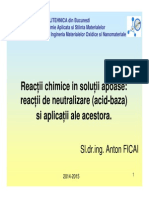 Curs 03 4 - Reactii Chimice