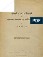 1934 - Botez, N. N. - Unitati de Masura Si Transformarea Masurilor