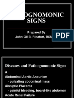 Pathognomonic Signs