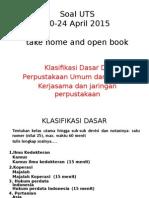 Soal Fisika UTS April 2015
