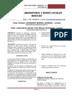 Informe Laboratorio 1 Redes Locales Basicas