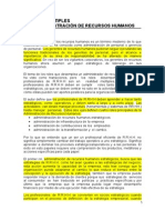 Resumen- Papeles Multiples RRHH