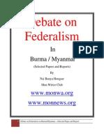 Federalism in Burma (Debate) Nov 2012