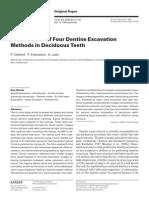 Performance of Four Dentine Excavation Methods in Deciduous Teeth
