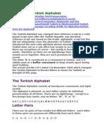 2 About the Turkish Alphabet