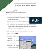01 - Cómo Configurar Las Direcciones Ip Bajo Windows 2003 Server Enterprise