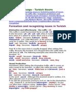 4 Turkish Nouns