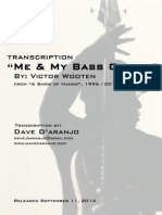 Me & My Bass Guitar (Bass Transcription) - Victor Wooten