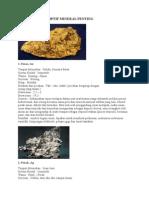 Beberapa Deskriptif Mineral Penting